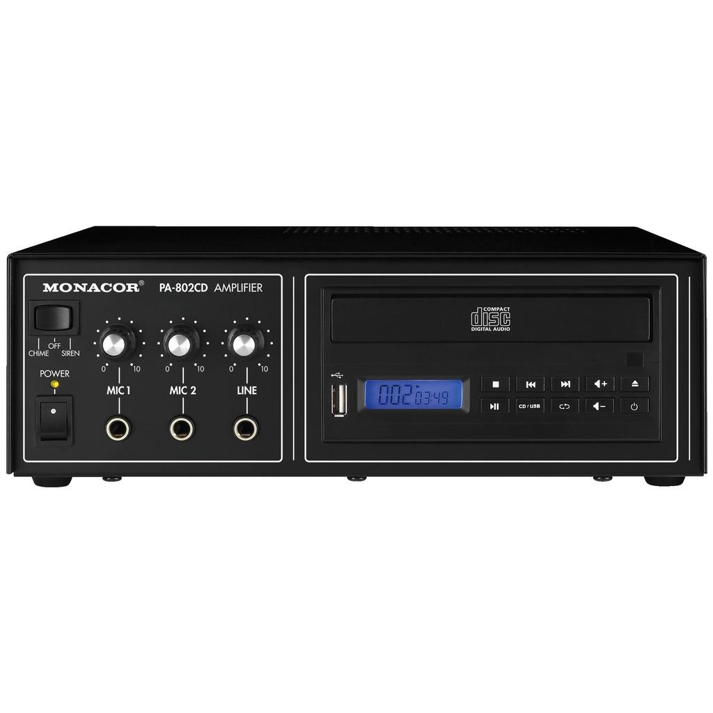 PA-802CD PA-forstærker med CD og mixer 15Wrms