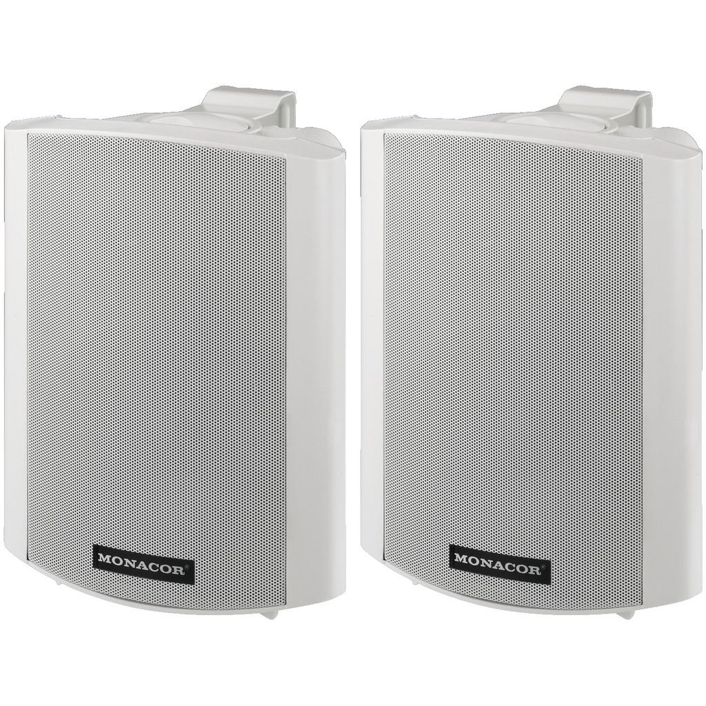 Image of   Aktive hvide højttaler med vægbeslag - MKA-60SET/WS