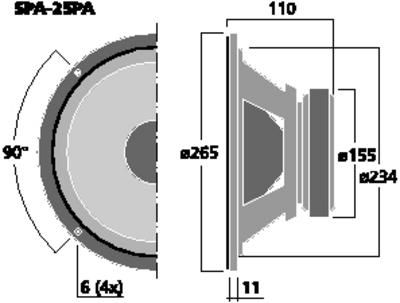 """SPA-25PA 10"""" Bas"""