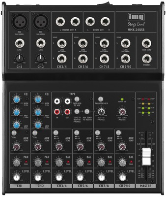Image of   6-kanals lydmixer - MMX-24USB img stageline
