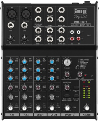 Image of   4-kanals mixer DSP og USB - MMX-22UFX