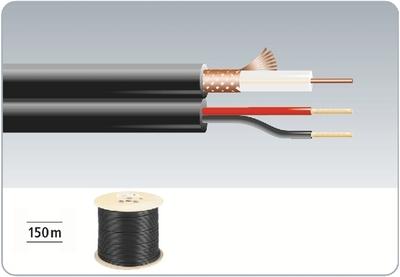 Billede af Monacor, VSC-152/SW Video/DC kabel 150m sort