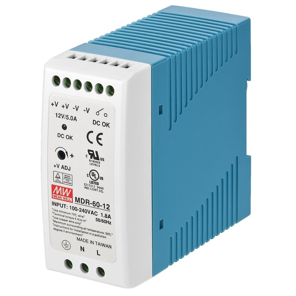 Billede af PSCS-60/12 Strømforsyning 12 volt 5 A DIN rail