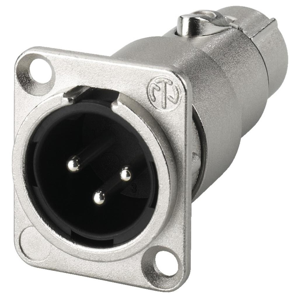 Billede af Neutrik XLR-adapter gennemføring XLR - NA-3MDF