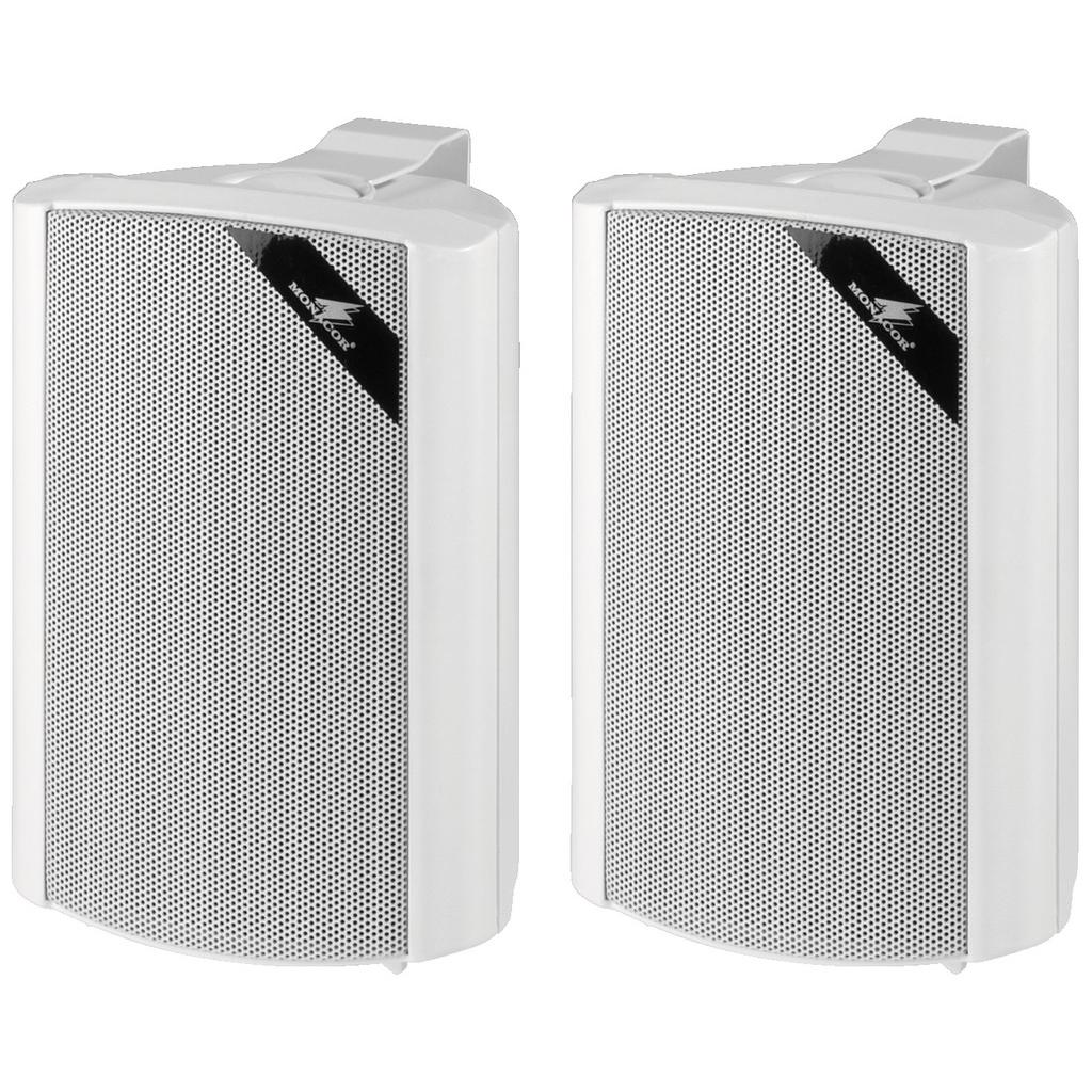 Væghøjttaler 2 vejs højttaler sæt i hvid - MKS-34/WS