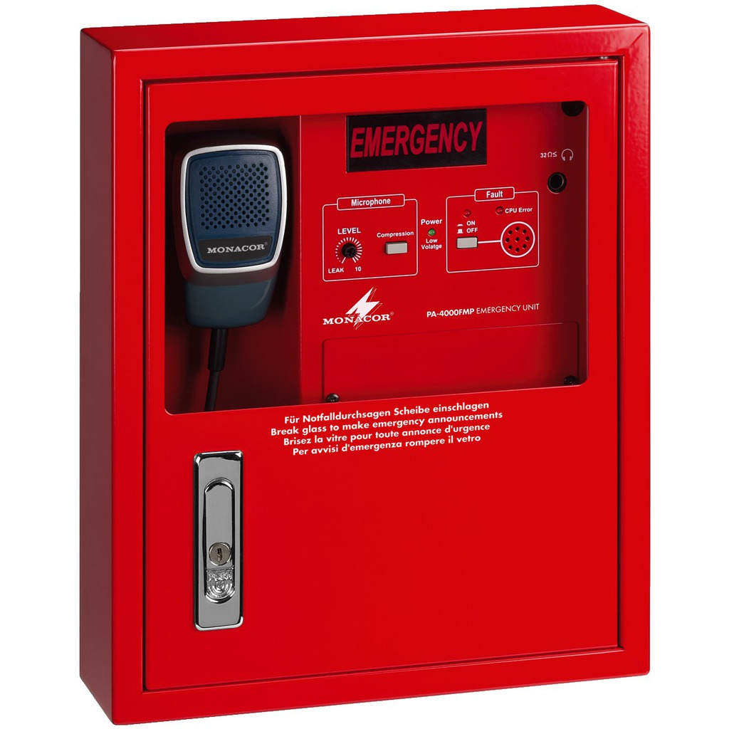 PA-4000FMP Brandmikrofon til 100 volts ELA lydsystemer