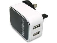 Billede af AC Charger Dual USB 2A UK