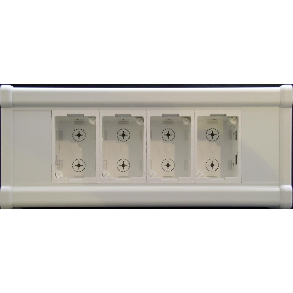 Kanalboks til 4 stk fuga paneler med snapdåser - ANT-KANAL4