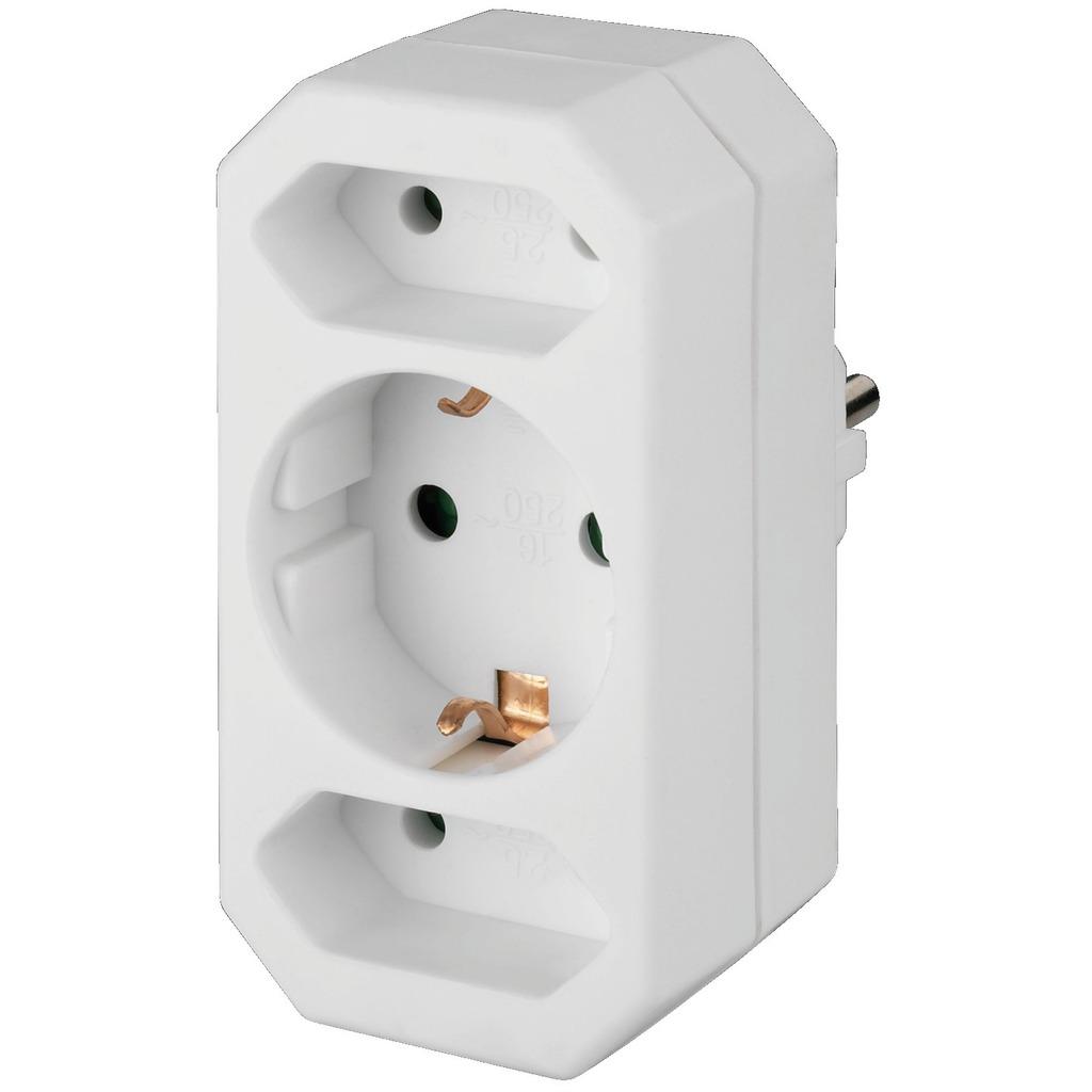 Stikdåse fordelerdåse 230 volt 3 stik - MEP-21