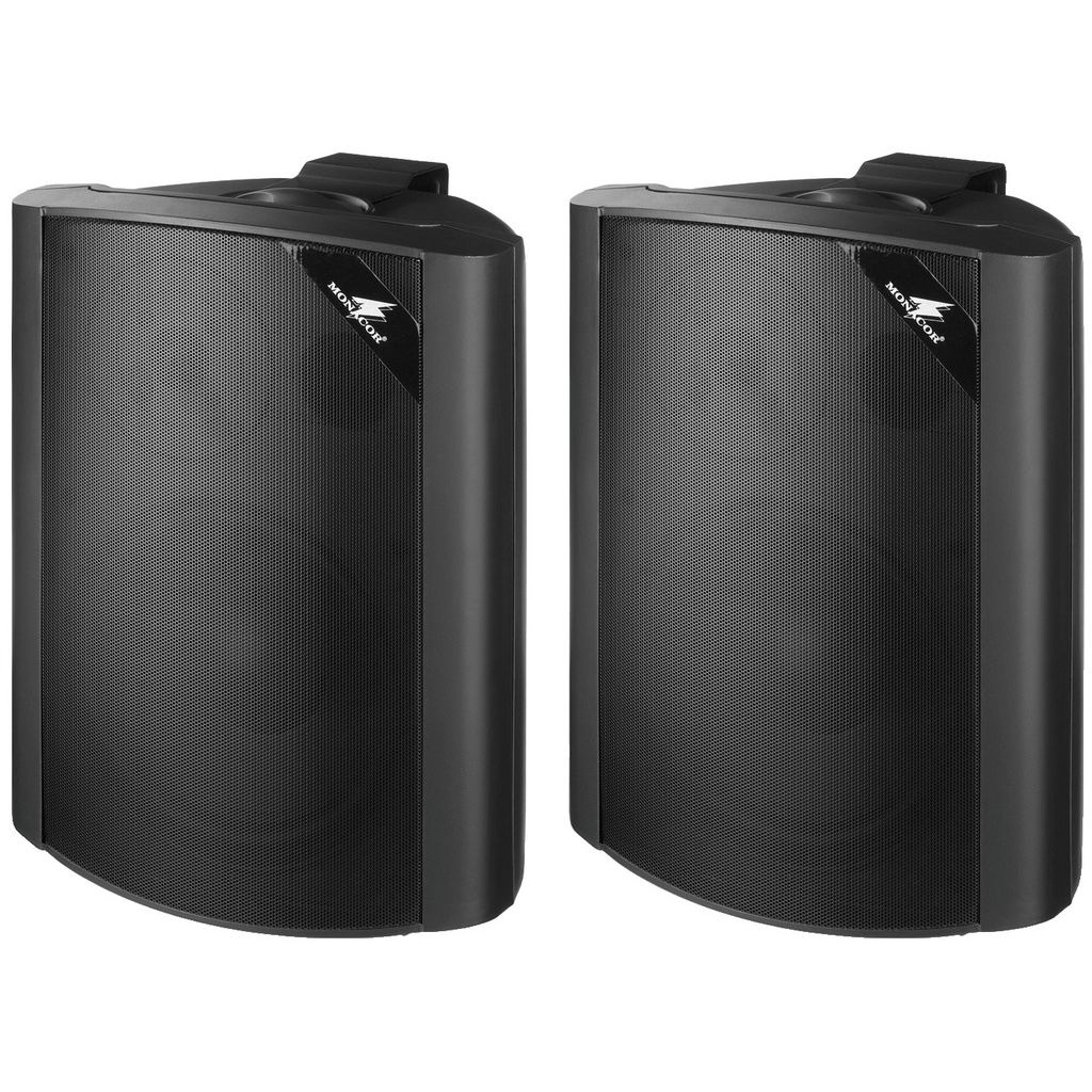 100 volts ELA-højttaler sort til væg montering - EUL-80/SW