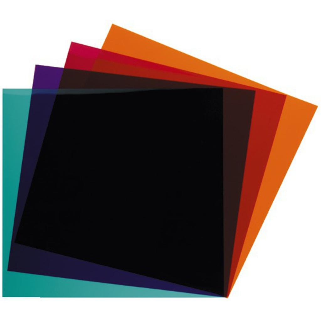 Billede af LEF-264SET Farvefolie LEE Filters for reflektore flere farver 24 * 24 cm