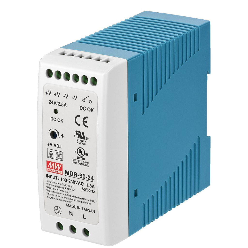 Billede af PSCS-60/24 Strømforsyning 24 volt 2,5 A til DIN rail
