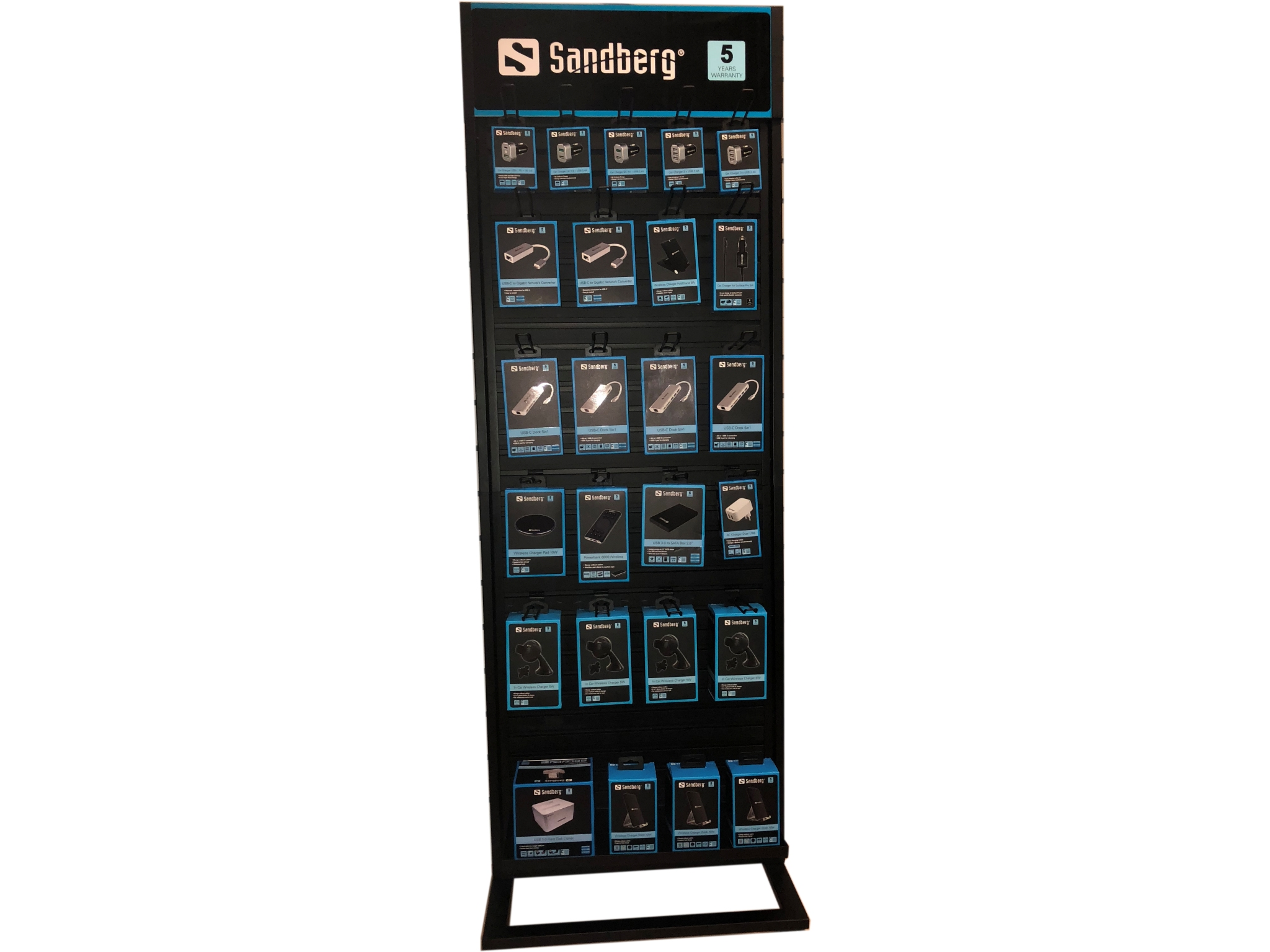 Image of   Sandberg Alu Slatwall Display 2-sided