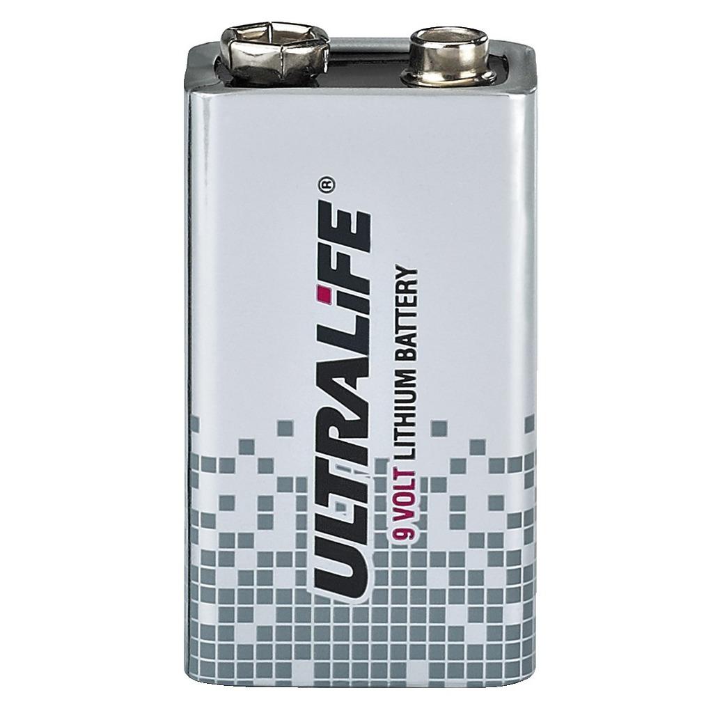 Image of   ULTRALIFE Lithium batteri 9V