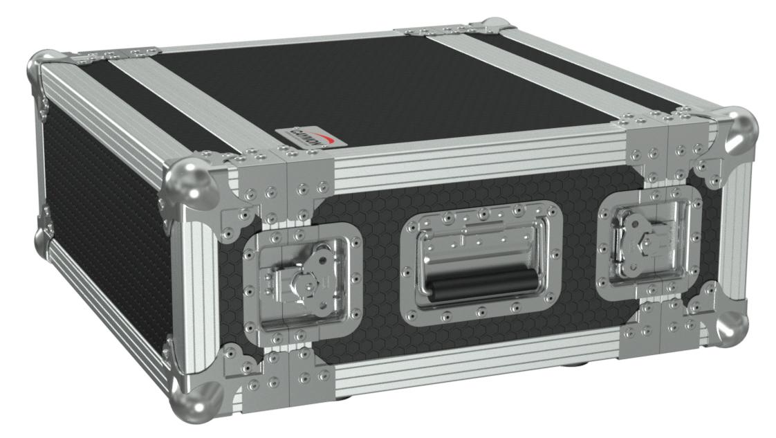 Caymon flightcase 4 unit høj & 33,5 cm dyb