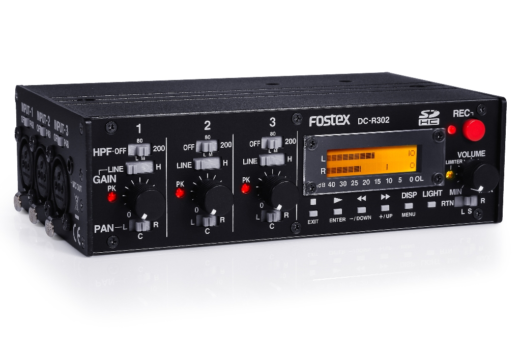 Fostex DC-R302 transportabel recorder for DSLR