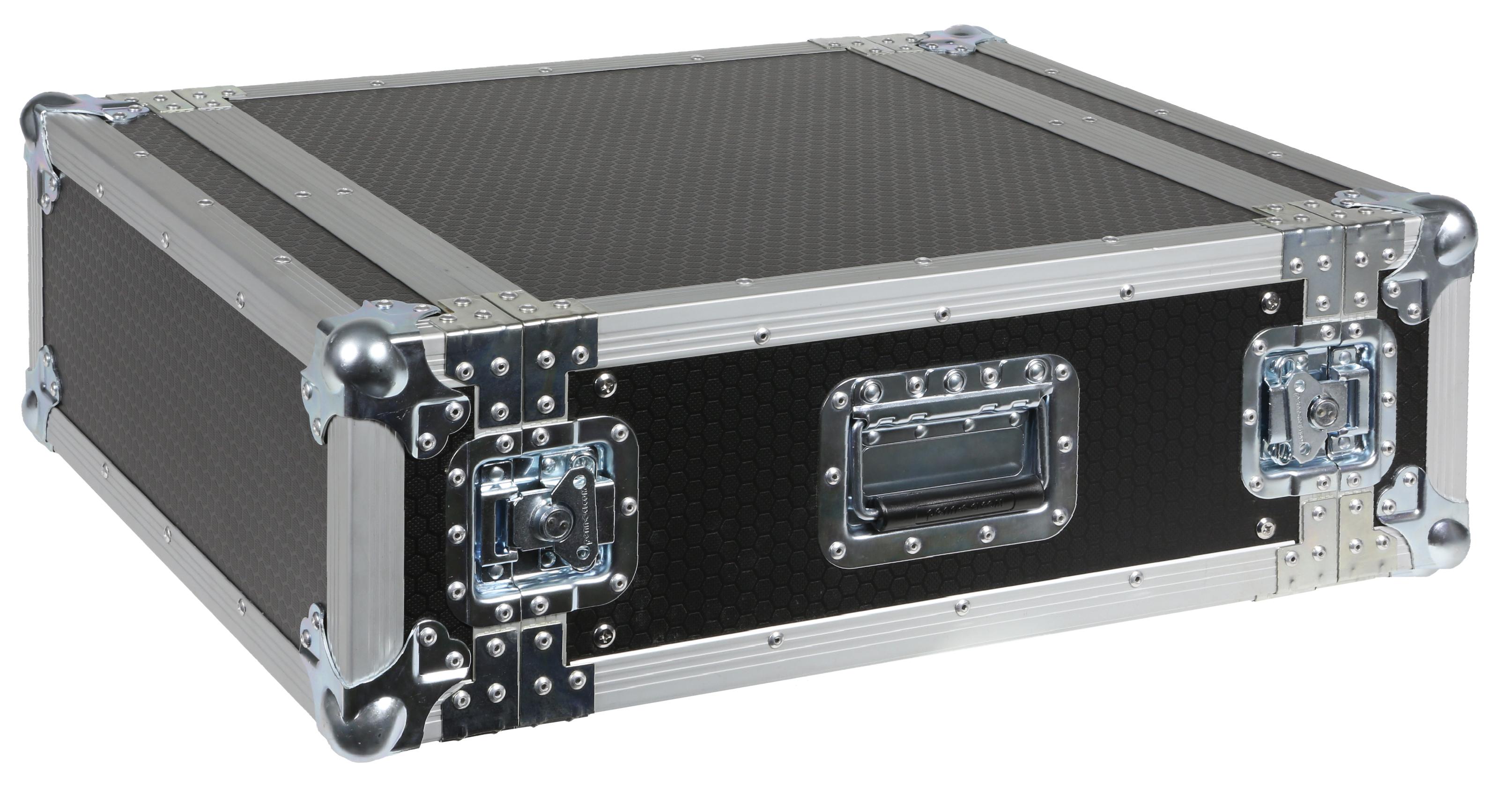 Caymon flightcase 4 unit høj & 48,2 cm dyb
