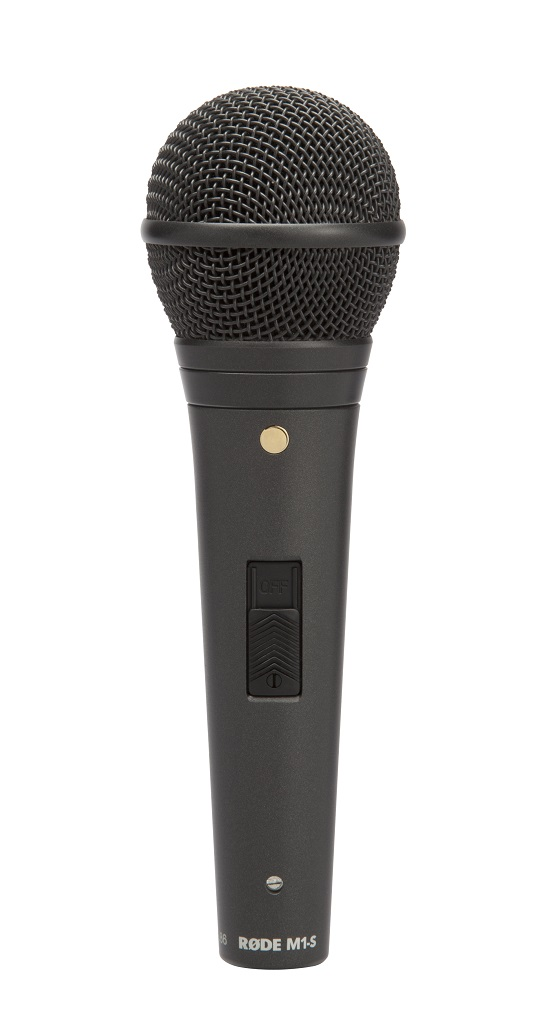 Røde M1-S dynamisk live mikrofon m/switch, sort