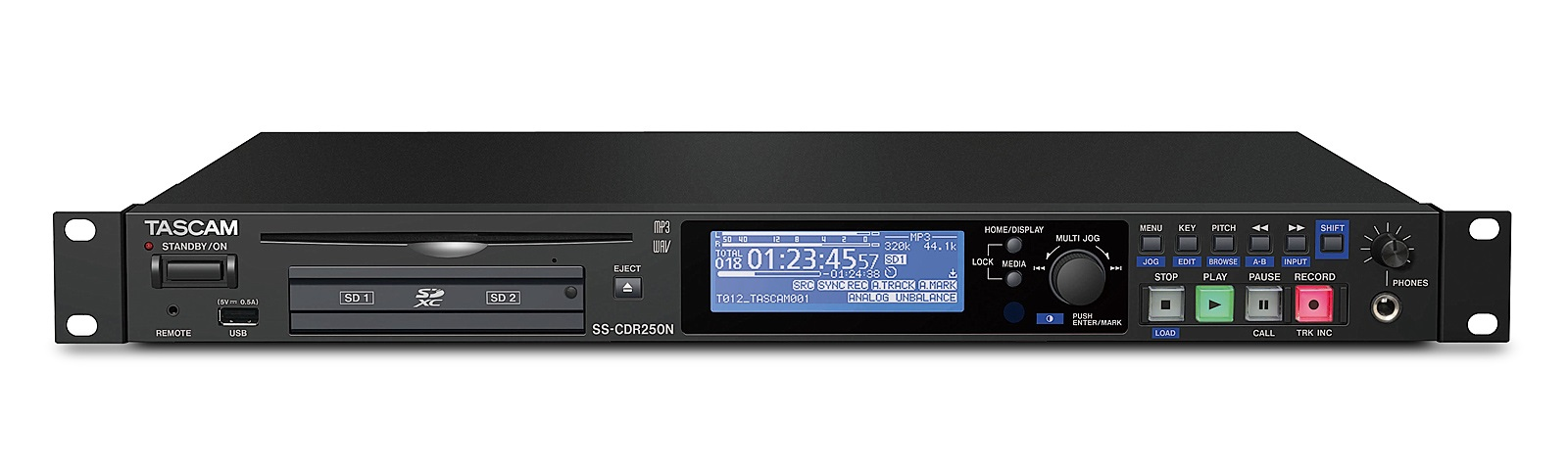 Tascam SS-CDR250 Harddisk og CD recorder WAW/MP3