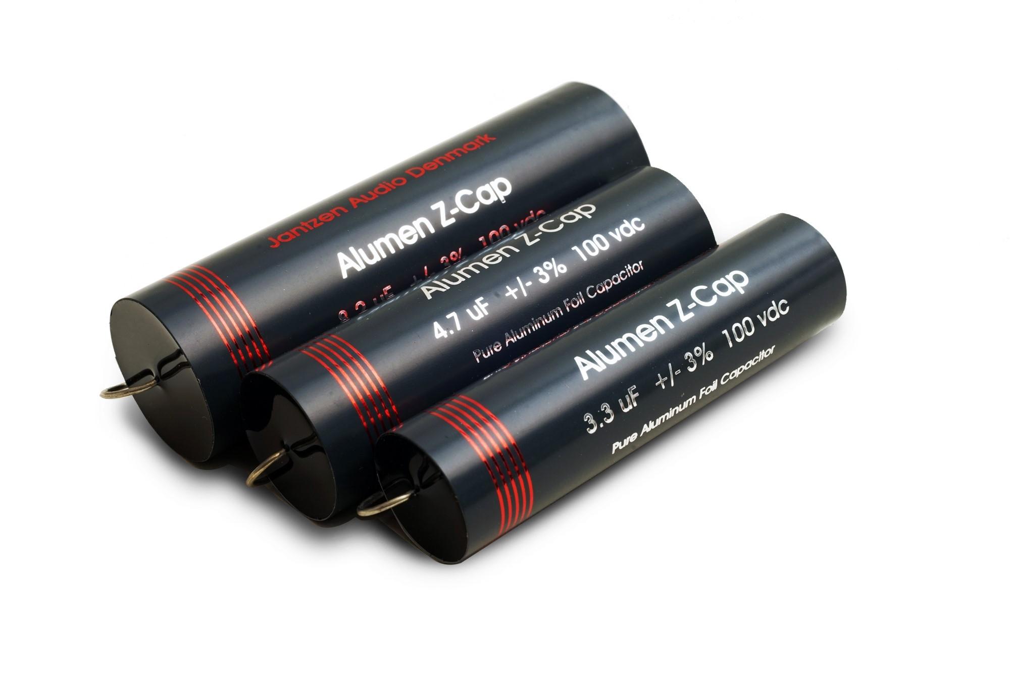 Billede af Alumen Z-cap kondensatorer fra Jantzen Audio