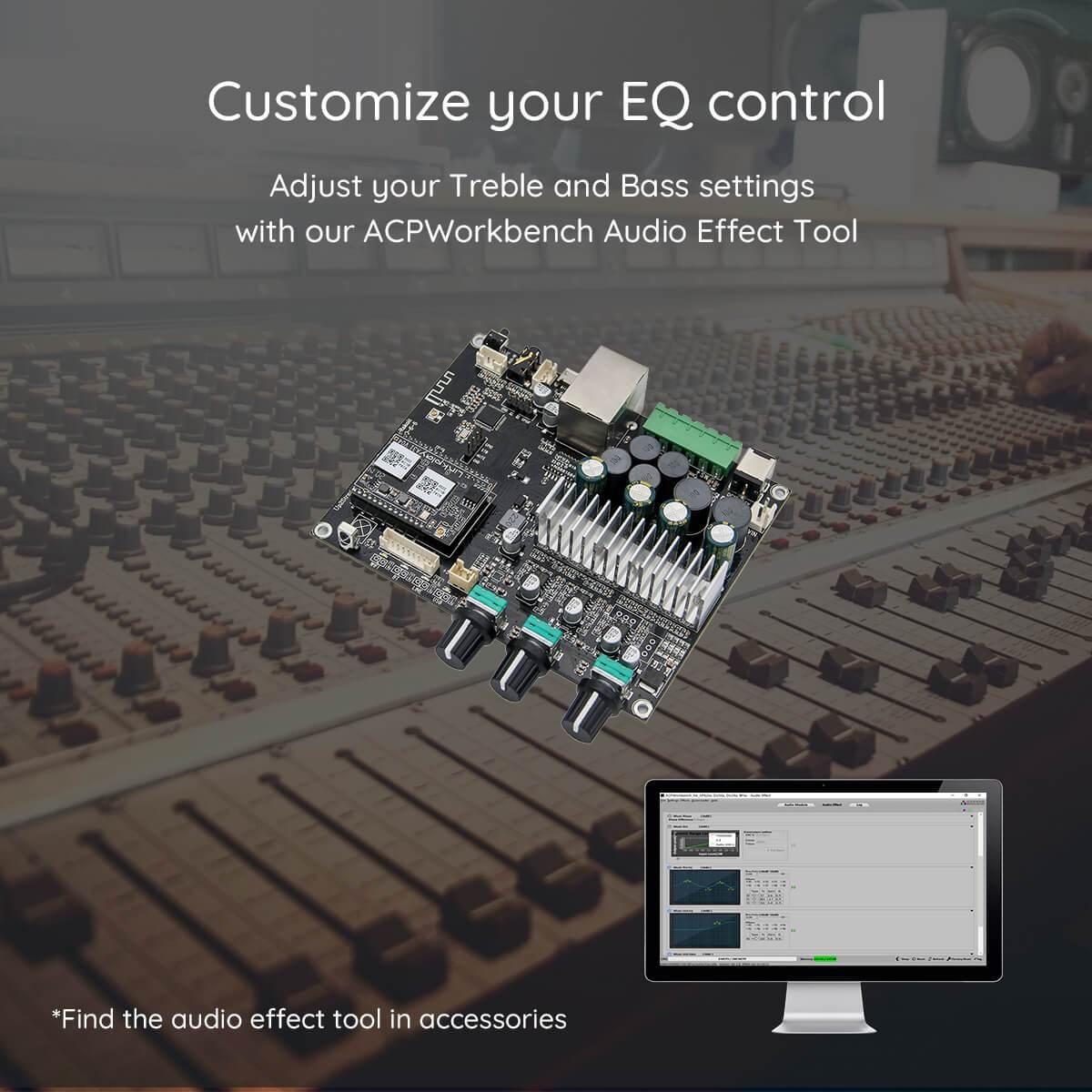 Arylic Up2Stream Amp 2.1 trådløs forstærker board til multirumslyd thumbnail