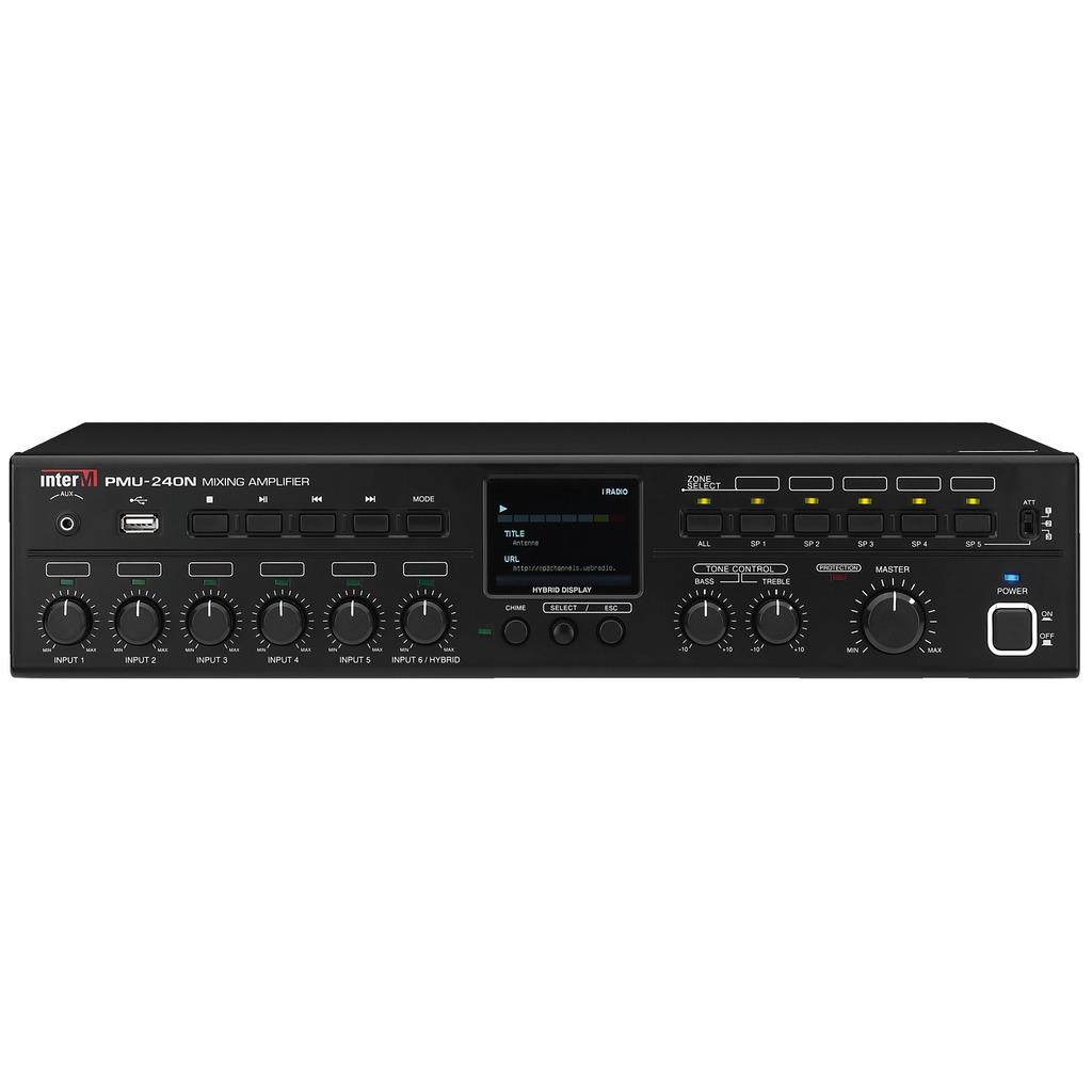 PMU-240N inter M PA-forstærker 100 volt og 4 ohm