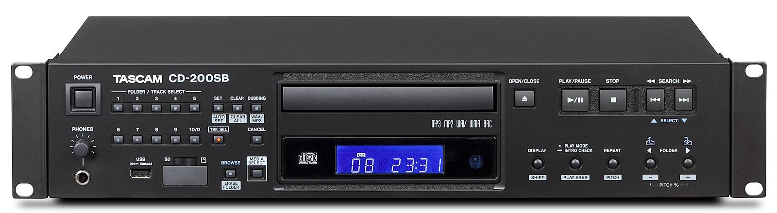 Tascam CD-200SB CD og harddisk afspiller