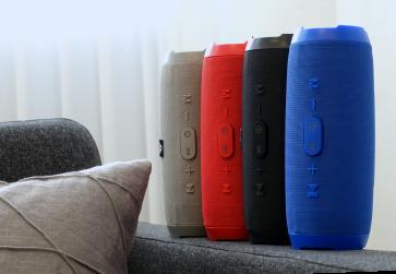 Bluetooth højttaler transportabel sort