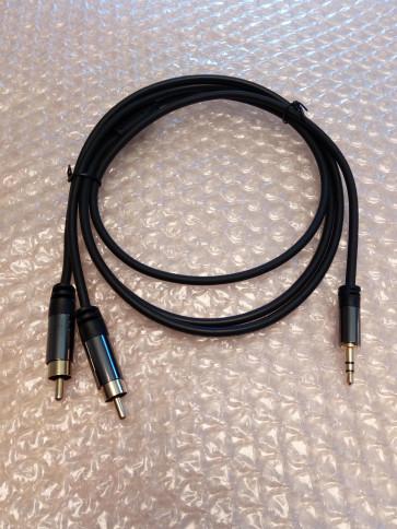 Minijack til Phono Hi-fi kvalitet 1 mtr MP-01
