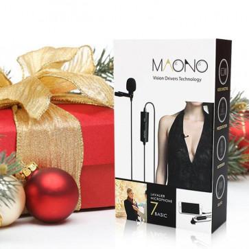 Knaphuls mikrofon til Iphone, android, laptop og kamera - Maono AU-100