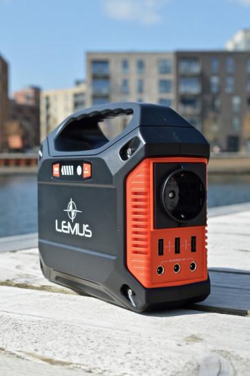Lemus Powerbox 12volt litium powerbank 230 volt