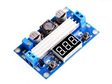 Step-up konverter board 6 amp med voltmeter