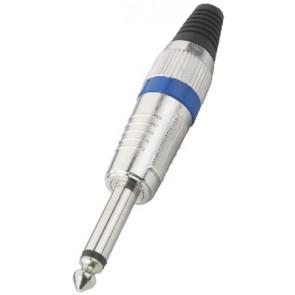 T-110/BL Jackstik 6.3mm mono blå