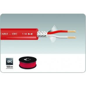 MLC-152/RT Mikrofonkabel 100m rød