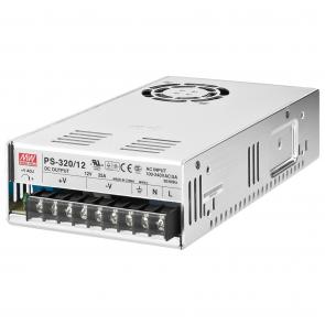 12 volts strømforsyning til indbygning - PS-320/12