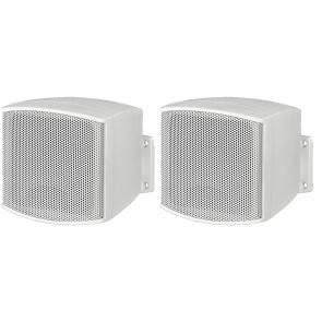 Hvide mini højttaler med vægbeslag - MKS-26/WS