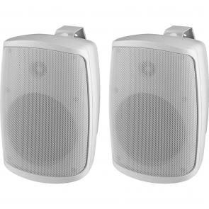 Højttalersæt 100Wmax hvid udendørs IP-65 - WALL-06/WS
