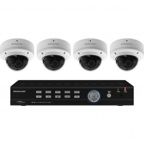 Videoovervågningsæt optager og 4 domekamera - AXZ-408DV