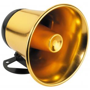 RUP-5 Guldfarvet hornhøjttaler 8 Ohm vejrbestandig
