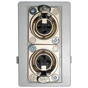 Fuga panel 2 stk XLR stik hun - ANT-11C