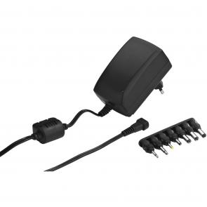 Strømforsyning med 7 adapter 1,5 A - PSS-1500SV