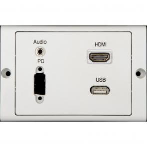 Boks m/VGA. audio, HDMI, USB til montering - ANT-MULTI