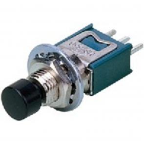 Mini trykknap sort - MS-650/SW