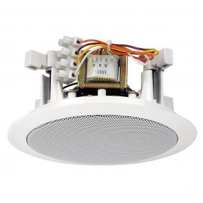 100 V højttaler rund hvid til indbygning - EDL-24