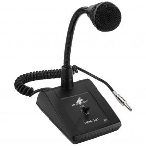 Bordmikrofon, sprial ledning, dynamisk 6,3 mm jackstik - PDM-300