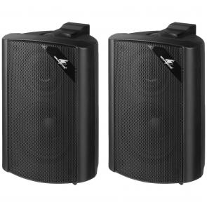 2 Vejs højttalersæt sorte med vægbeslag - MKS-34/SW