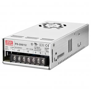 12 volts strømforsyning til indbygning - PS-200/12