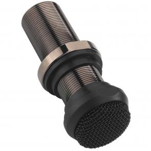 ECM-10/SW Mikrofon til indbygning sort - Mikrofon med gevind
