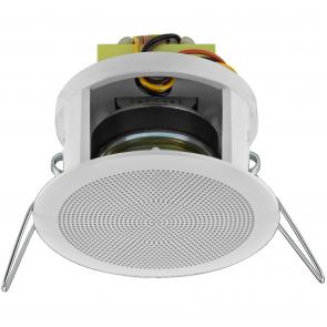 Hvid indbygnings højttaler 100 volt - EDL-22/WS