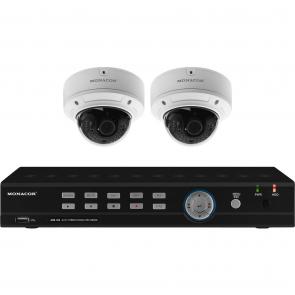 Videoovervågningssæt digitaloptager og 2 kamera - AXZ-204DV